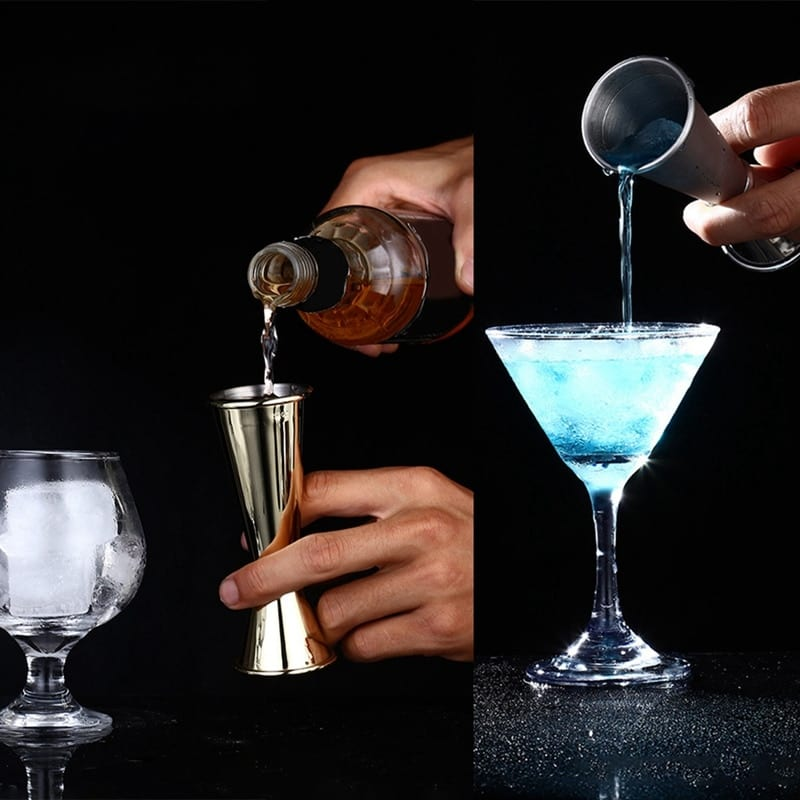 Stainless Steel Cocktail Scale Cup Double Head Measuring Cup Bartending Measuring Cup for Bar Jigger 1pc